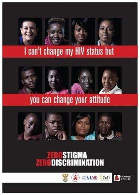 J6556 - ZERO STIGMA Zero Discrimination * A2 Poster All in One