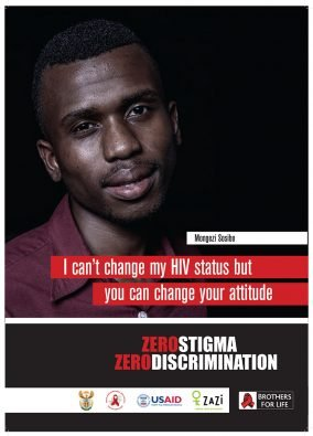 J6556 - ZERO STIGMA Zero Discrimination * A2 Poster